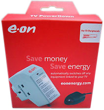 eon TV Powerdown energy saving plug box